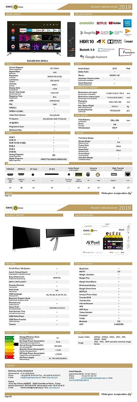CHiQ U50H7A Randloser Android UHD LED Fernseher 50 Zoll TV