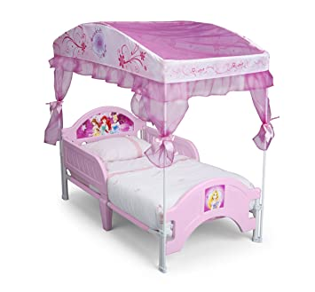 Amazon Com Delta Children Canopy Toddler Bed Disney Princess
