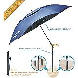 Portable Sun Beach Umbrella,Carbon fiber umbrella rod,new black glue,anti ultraviolet,Quick installation,360° arbitrary rotating,used in beaches, pools, terraces, parks, tours, mountain,Dark Blue