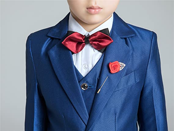 Amazon.com: Yuanlu Slim Fit traje de comunión niños esmoquin ...