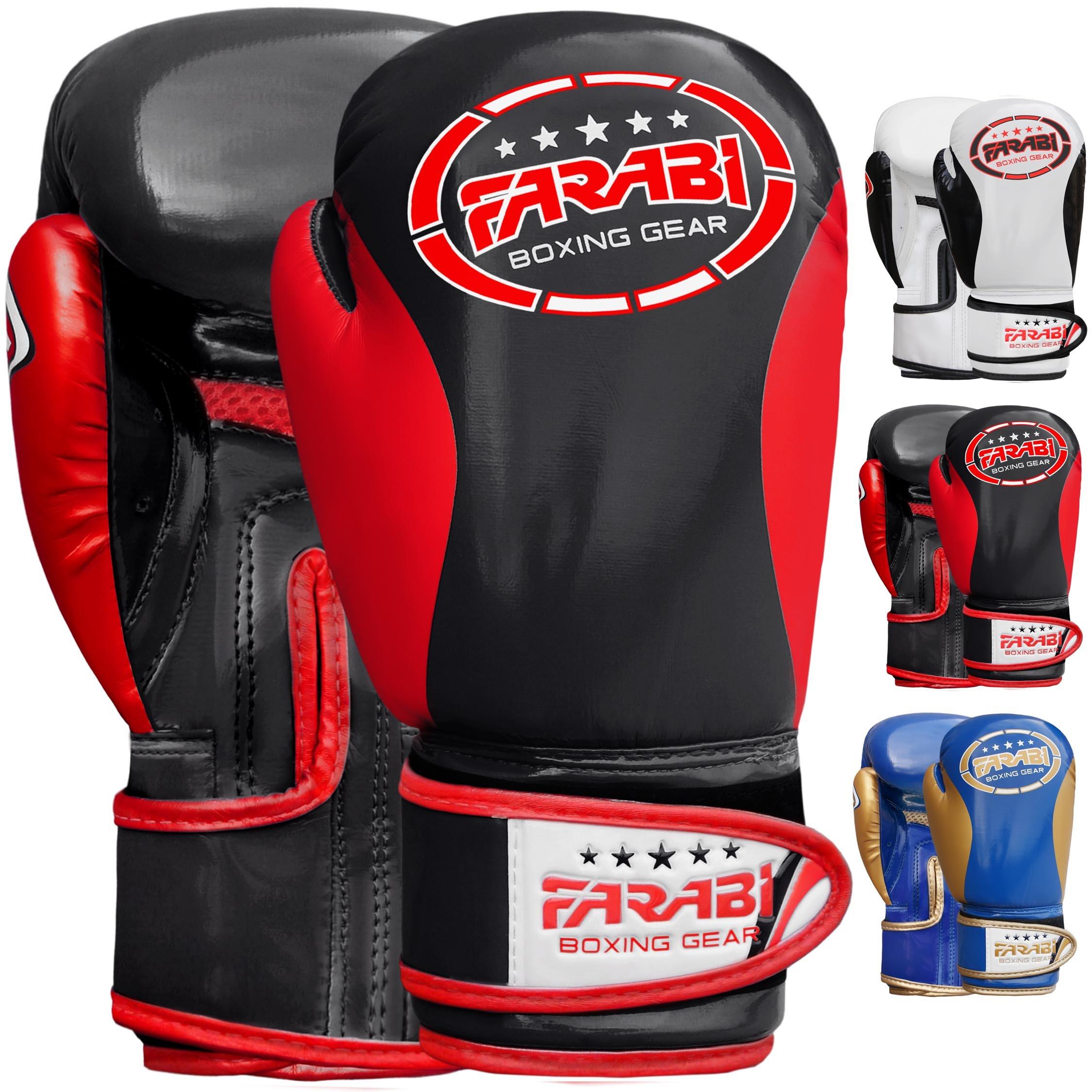 Boxing Gloves Kids Junior Children Training Sparring Bag Mitt (6-oz)