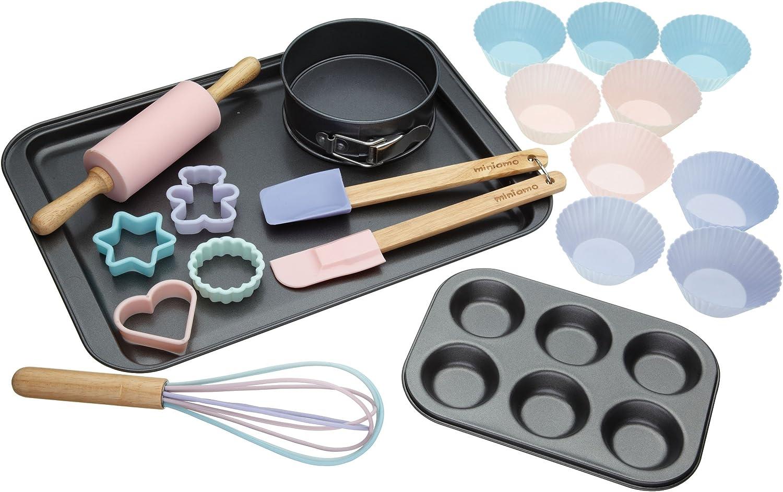 Melamine Multi Coloured 16.3 x 18.6 x 12 cm Wrendale Childrens Baking Set