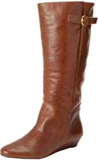 56dab4c1fd0 Steve Madden Women s Intyce Cognac Leather Boot Casual ...