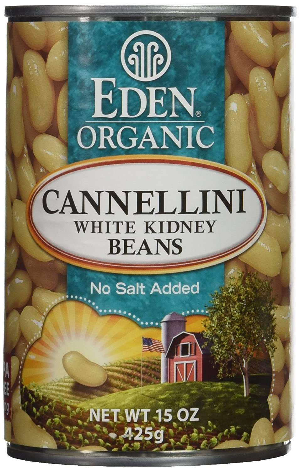 Amazon.com : Eden Organic Cannellini White Kidney Beans, No Salt ...
