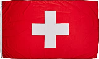 product image for Annin Flagmakers Model 198165 Switzerland Flag Nylon SolarGuard NYL-Glo, 5x8 ft, 100% Made in USA to Official United Nations Design Specifications