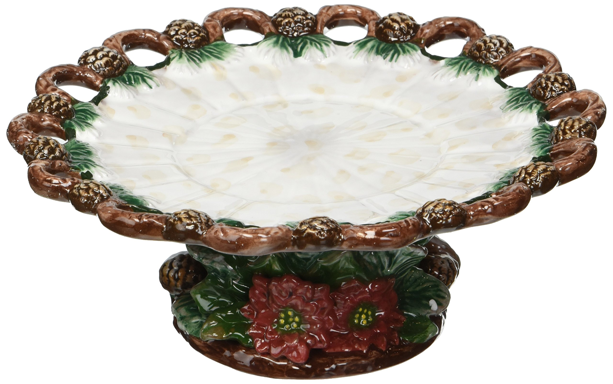 ATD 33421 7'' Festive Christmas Themed Candle Holder Plate