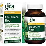 Gaia Herbs Eleuthero Root, Vegan Liquid Capsules, 60 Count, Healthy Energy and Stamina,  Mental Endurance, Metabolic Efficiency and Stress Resistance, Siberian Ginseng 554mg