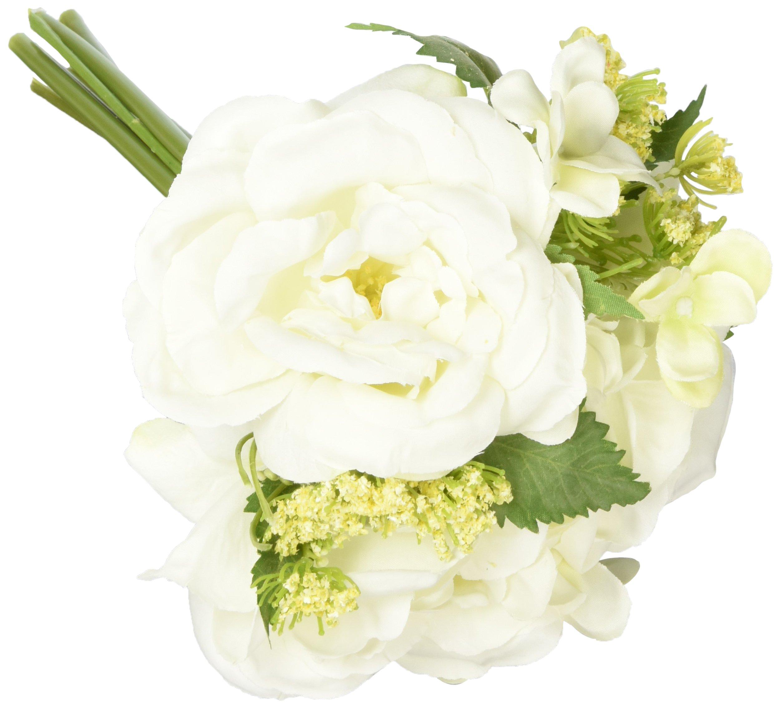 Darice NCG-14016 10'' Everyday Dropin Mixed Spring Bouquet Cream