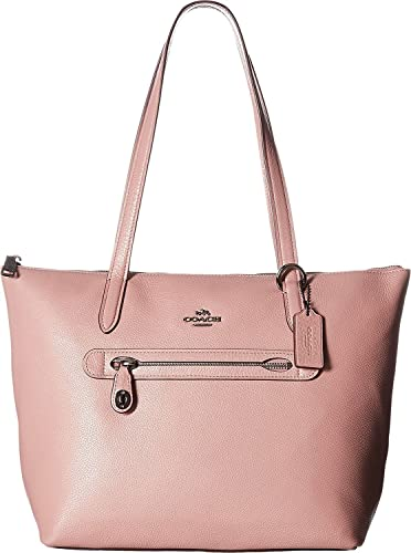 Image Unavailable. Image not available for. Color  COACH Women s Pebbled  Leather Taylor Tote Dk Dusty Rose Handbag d25af70fea