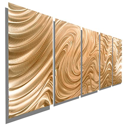Amazon.com: Large Abstract Copper Metal Wall Art Sculpture - Multi ...