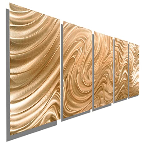 Etonnant Large Abstract Copper Metal Wall Art Sculpture   Multi Panel Modern  Contemporary Wall Décor By Jon