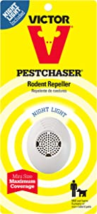 Victor Mini M751SN Ultrasonic Pest Chaser Rodent Repeller with Nightlight, 1-Pack (Not available in HI, NM, PR)