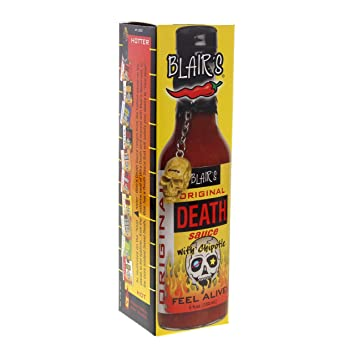ce118b65bc842 RetailSource Death Sauce with Chipotle and Skull Key Chain, Original, 5 oz.