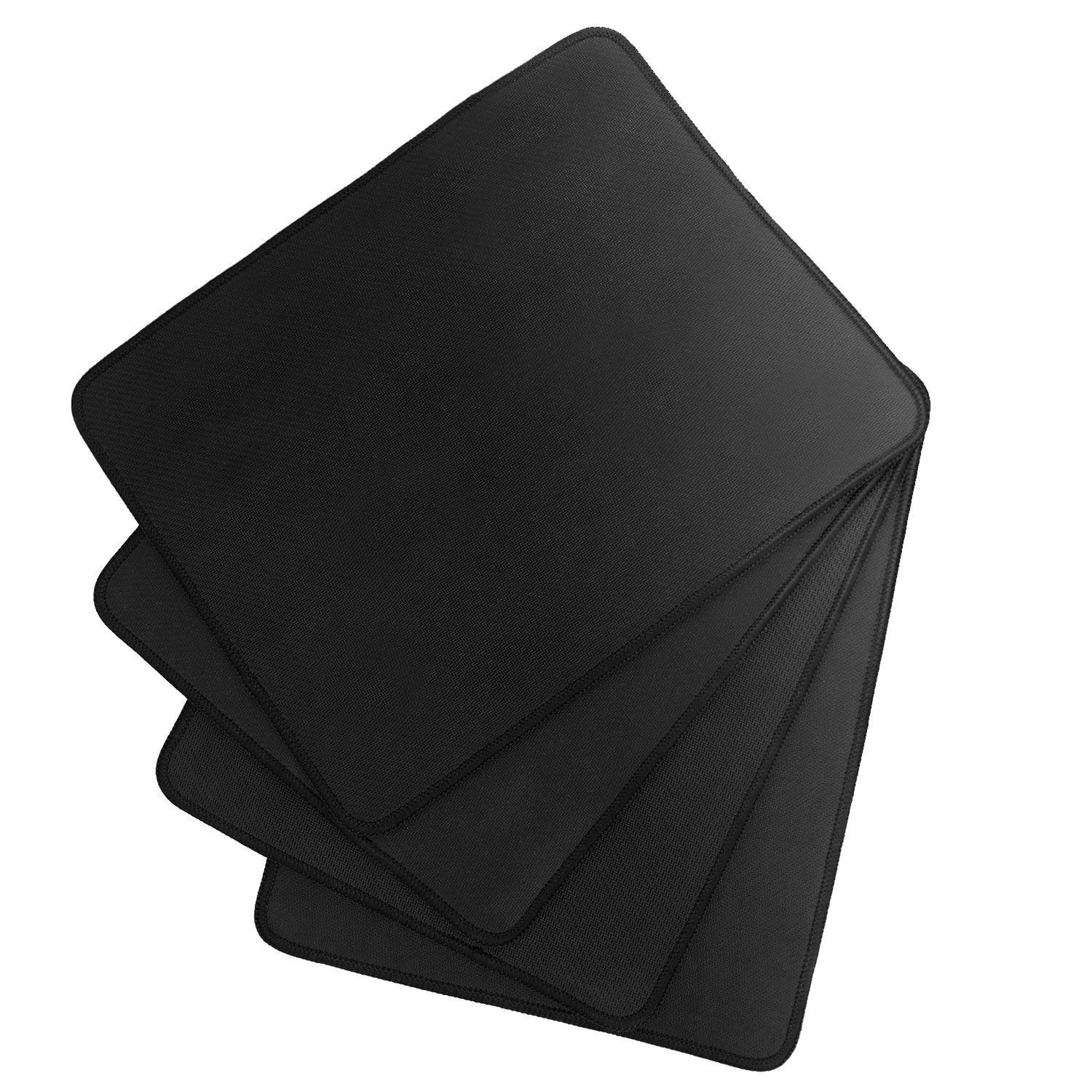 Yojoloin 25CMx30CMx2mm Thick Mouse Pad with Stitched Edges Non-Slip Rubber Base Mousepad for Laptop Computer /& PC 11 x 8.7 inches Premium-Textured Mouse Mat Pad Black,Rubber Base 4 PCS