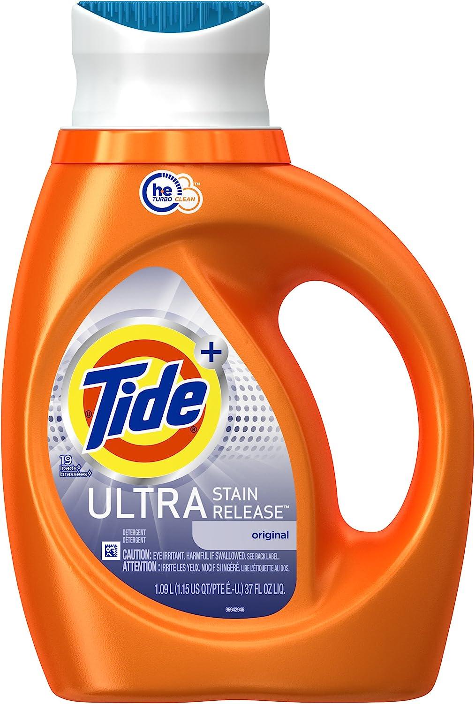 Tide Plus Ultra Stain Release HE Turbo Clean Laundry Detergent, Original Scent, 1.09 L (19 Loads)