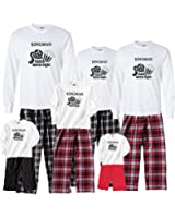 Footsteps Clothing Personalized Family Movie Night Fun Matching Adult Pajamas & Kids Playwear