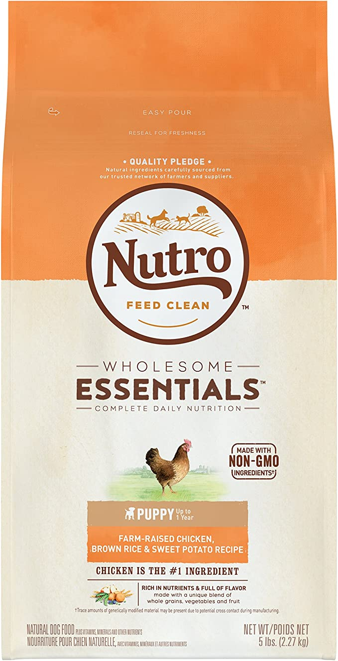 Nutro Wholesome Essentials Natural Puppy Dry Dog Food - Best Puppy Food for Digestive Problems