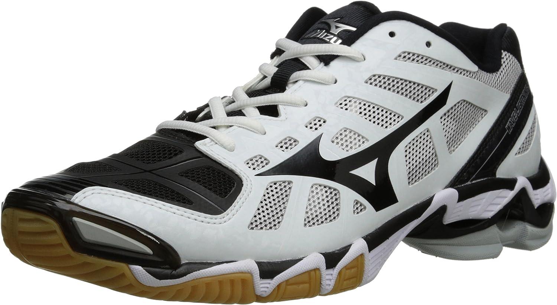 mizuno men's wave lightning z5 indoor court shoe pattern black