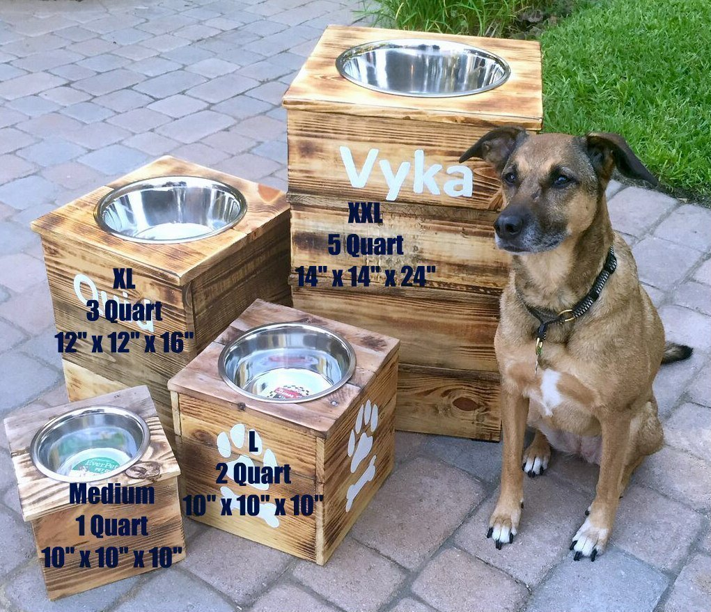 Single Large Elevated Dog Dish // Large Feeding Stand // Dog Dish // Elevated Dog Bowl