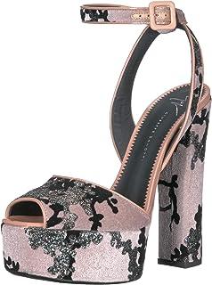 8930c5a6f515 Amazon.com  Giuseppe Zanotti Lavinia Leopard Platform Sandal (38)  Shoes