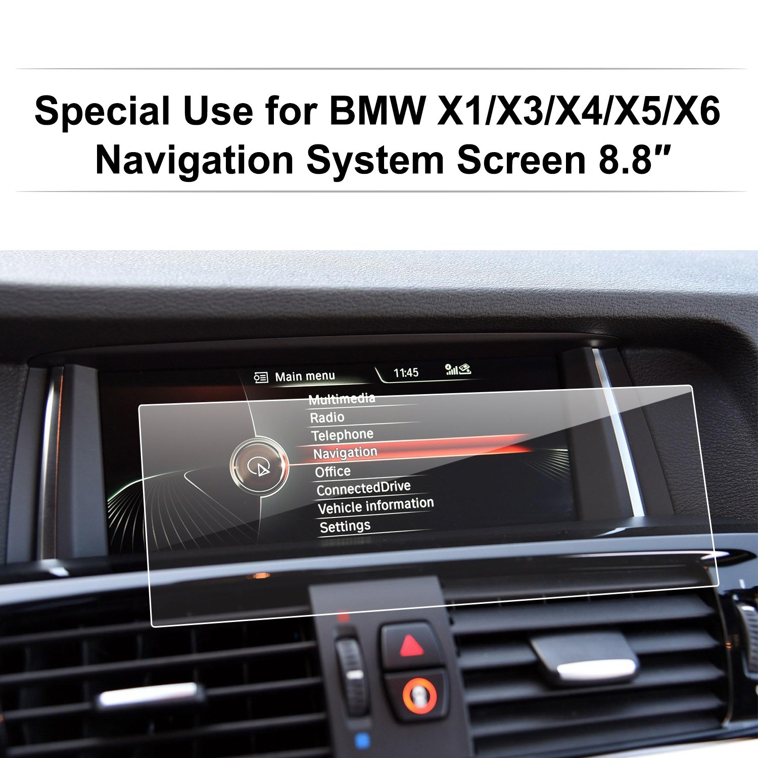 LFOTPP Compatible Tempered Glass Navigation Infotainment Center Touch Screen Protector Replacement for BMW X1 X3 X4 X5 X6M40i 8.8-Inch Screen, If Applicable
