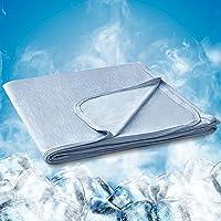 Hansleep Manta Verano de Frescura 130x170 cm Azul, Manta Cama con Fibra de Enfriamiento Tecnología de Refrigeración…