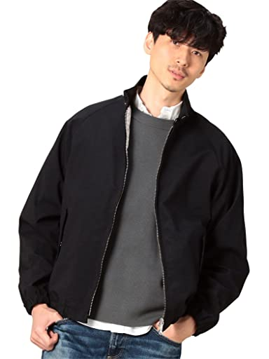Oxford Nylon Harrington Jacket 1225-139-8313: Black