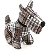 Nicola Spring Bentley the Dog Door Stop in Fabric - Vintage Decorative Doorstop for Home/Office