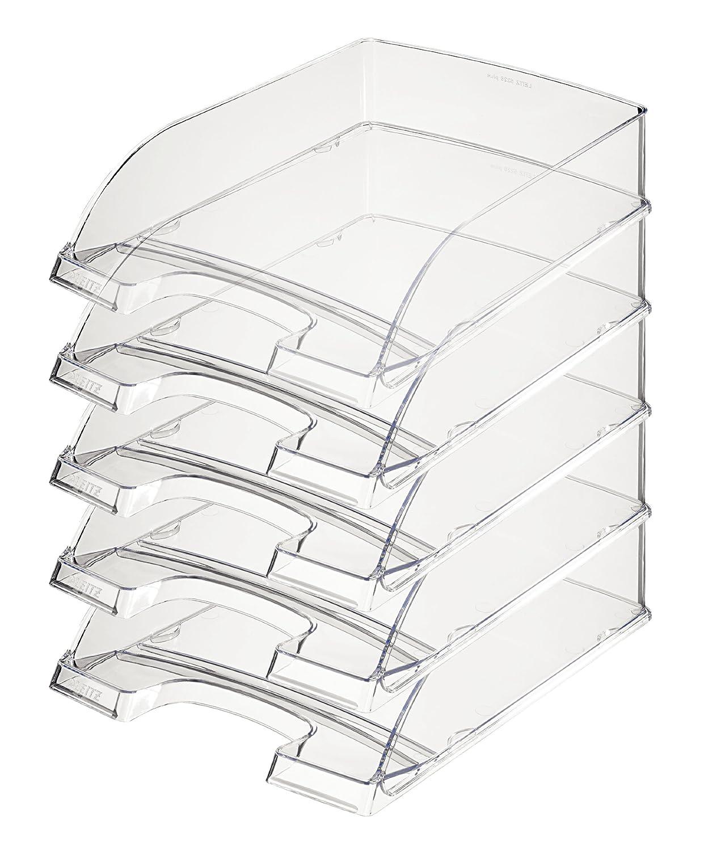 grau-transparent DIN A4 LEITZ Briefablage Plus Transparent