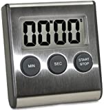 Elegant Digital Kitchen Timer, 3 Stainless Steel Models, Model eT-23, SUPER Strong Magnetic Back, Loud Alarm, Large Display, Auto Memory, Auto Shut-Off