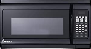 "Impecca COM1600B 1.6 cu. ft. Over-the-Range 30"" Microwave Oven 1000 Watts, with Surface Light, 2 Speed Vent System, Touch-pad Controls, Digital Clock, Timer, LED Display and Child Lock, Black"