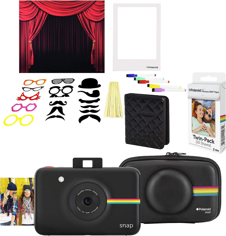 Polaroid Snap Cámara Digital instantánea (Negro) Kit Cabina de Fotos: Amazon.es: Electrónica