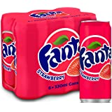 Fanta Strawberry Carbonated Soft Drink, Can -330 ML (Pack of 6)