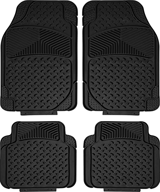 Highland 4447900 Weather Fortress Tan Synthetic Rain Floor Mat 4 Piece
