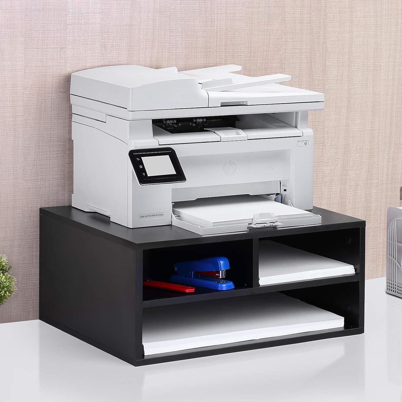 1home Stampante Desktop in Legno//Supporto Fax stoccaggio Doppio dello Spazio di Lavoro Organizzatore di Machine