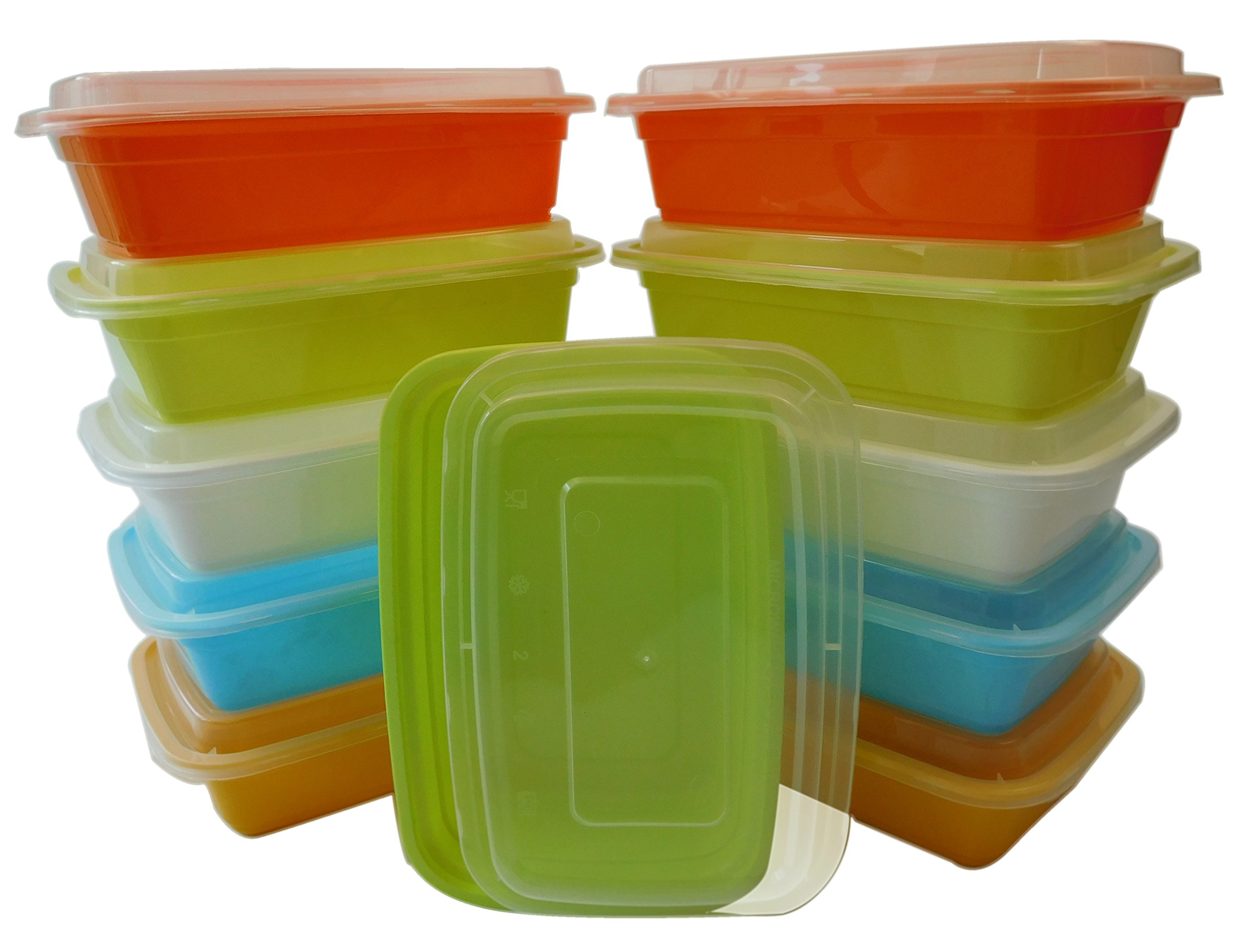 Table To Go 240-Pack Bento Lunch Boxes with Lids (1 Compartment/ 34 oz) (Multicolor Pack)