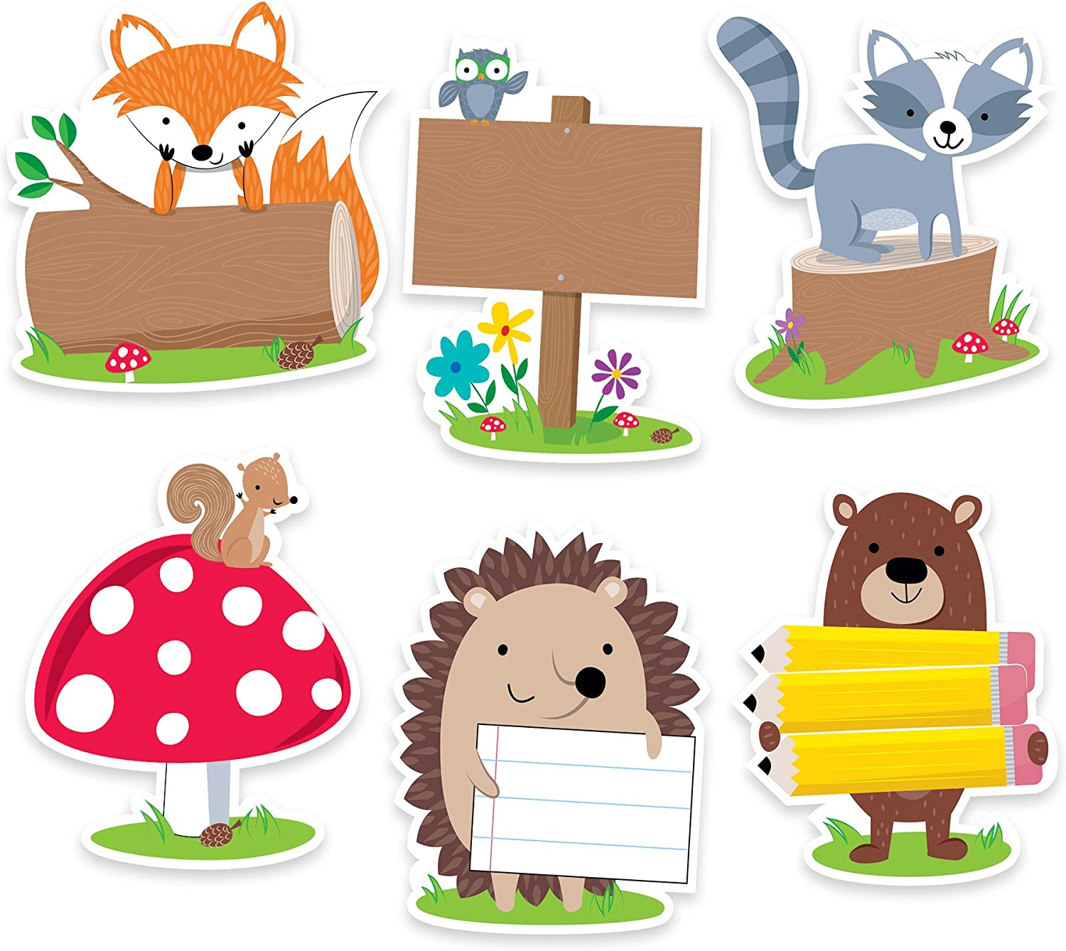 "Creative Teaching Press Incentives, Wall Décor Woodland Friends Cut Outs, 6"" (Accent for Calendars, Bulletin Boards and Classrooms, Learning Spaces and More) (6099)"