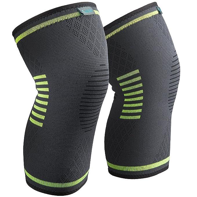 Sable Rodilleras Crossfit 2 Paquetes Antideslizante Uniforme de presión Tejido transpirable para Mujer y Hombre para, Motocross, Voleibol, Bicicleta, ...
