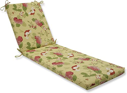 Pillow Perfect Outdoor/Indoor Risa Lemonade Chaise Lounge Cushion