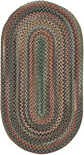 "product image for Capel Sherwood Forest Pine Wood 0' 8"" x 0' 28"" Oval Braided Rug"