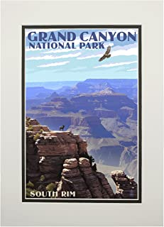 product image for Grand Canyon National Park, Arizona - South Rim (11x14 Double-Matted Art Print, Wall Decor Ready to Frame)