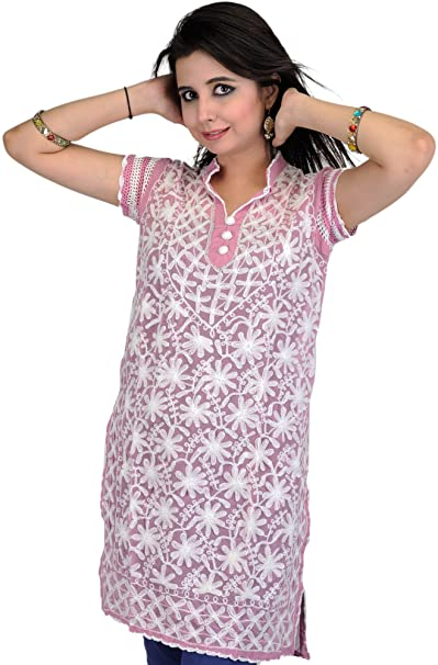 Fucsia Exotic Para Kurta Rosa Amazon Mujer Ropa es India xvUZqTvwX