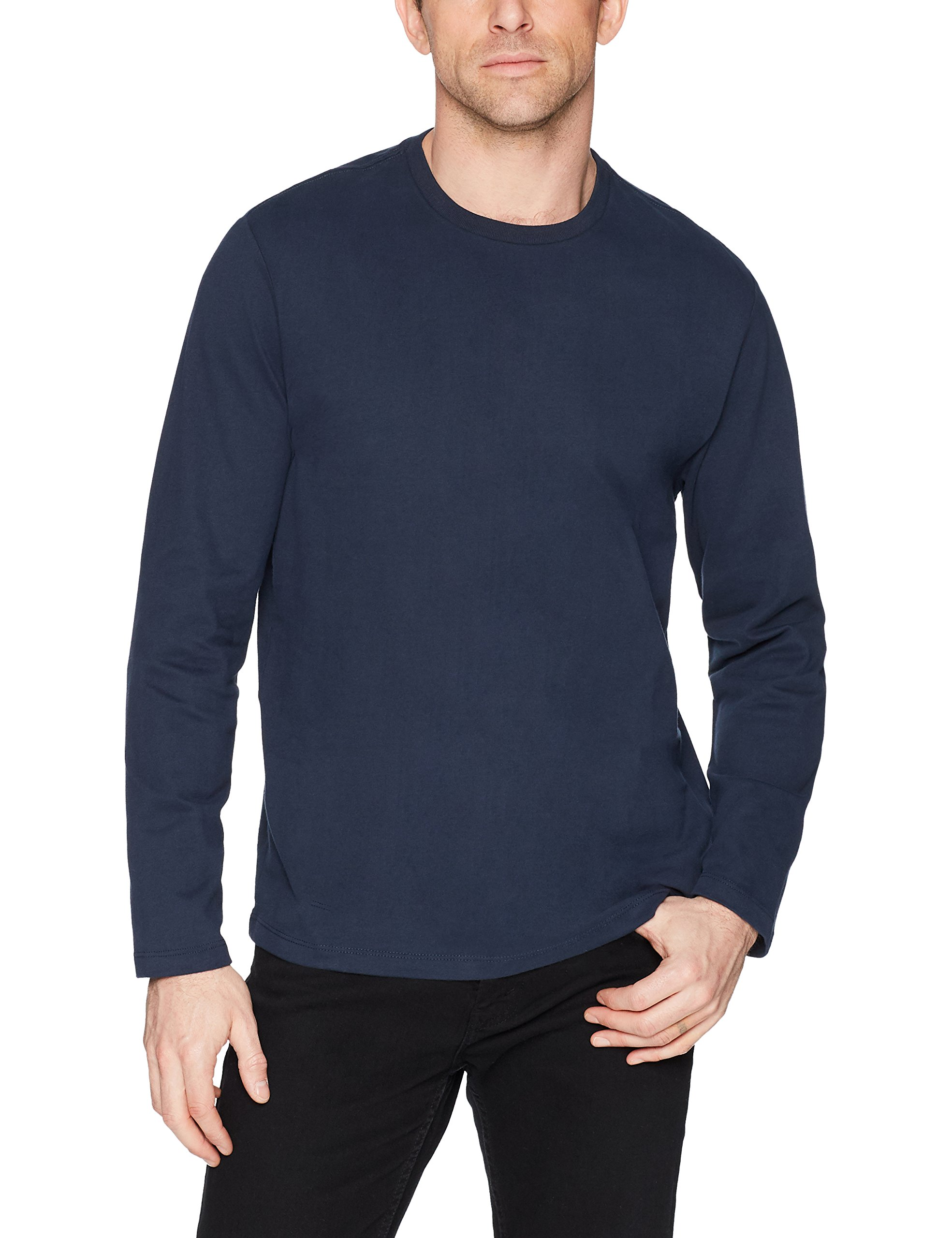 Amazon Essentials Men's Regular-Fit Long-Sleeve T-Shirt, Navy, Medium by Amazon Essentials (Image #3)