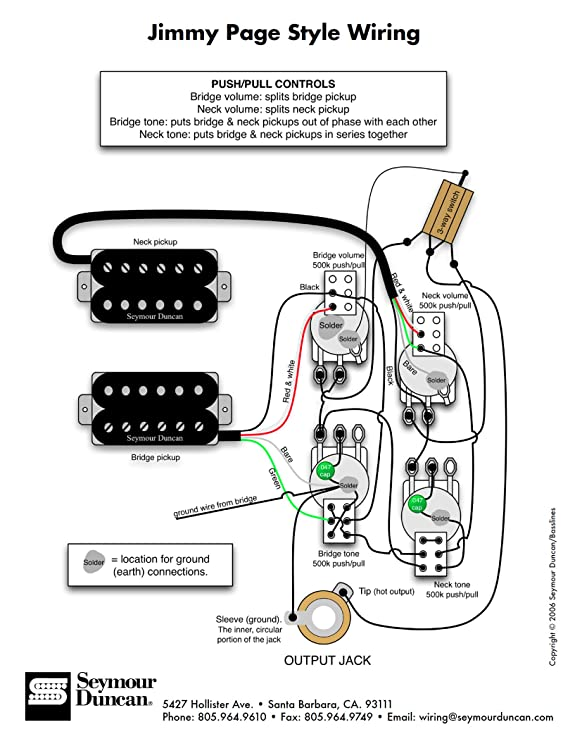 Seymour Duncan Hot Rodded Wiring Diagram ‐ Wiring Diagrams Instruction