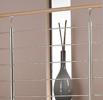 Barandillas de aluminio con pasamanos de madera de haya y barandilla barras de acero inoxidable. 1.20 M, como escaleras barandillas o de parapeto barandillas interiores adecuado.: Amazon.es: Bricolaje y herramientas