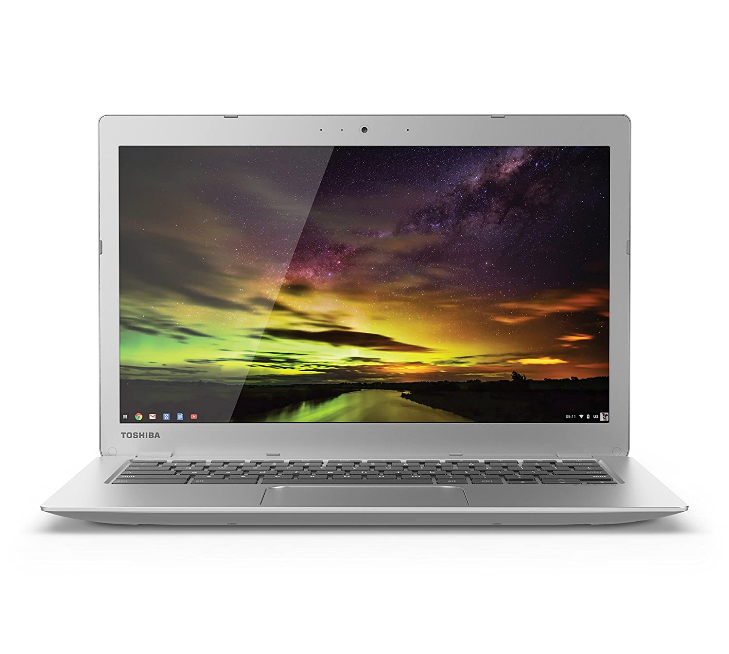 Amazon.com: Toshiba CB35-B3340 13.3 Inch Chromebook (Intel Celeron, 4GB,  16GB SSD, Silver) Full HD-Screen: Computers & Accessories