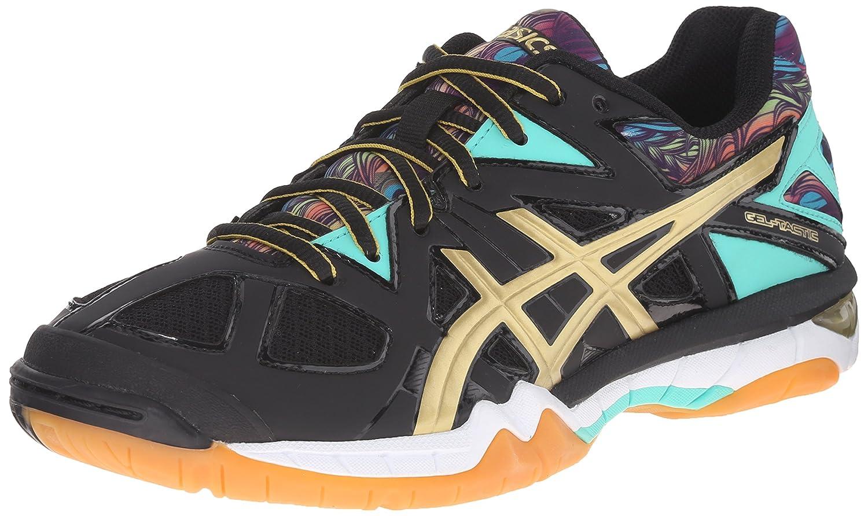 ASICS Women's Gel Tactic Volleyball Shoe B0154FOG3M 10.5 B(M) US|Black/Gold/Electric Green