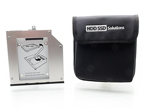 HDD / SSD Caddy Adapter for Lenovo W540, W541, T540, T440p (original  Newmodeus caddy w/ carrying pouch)