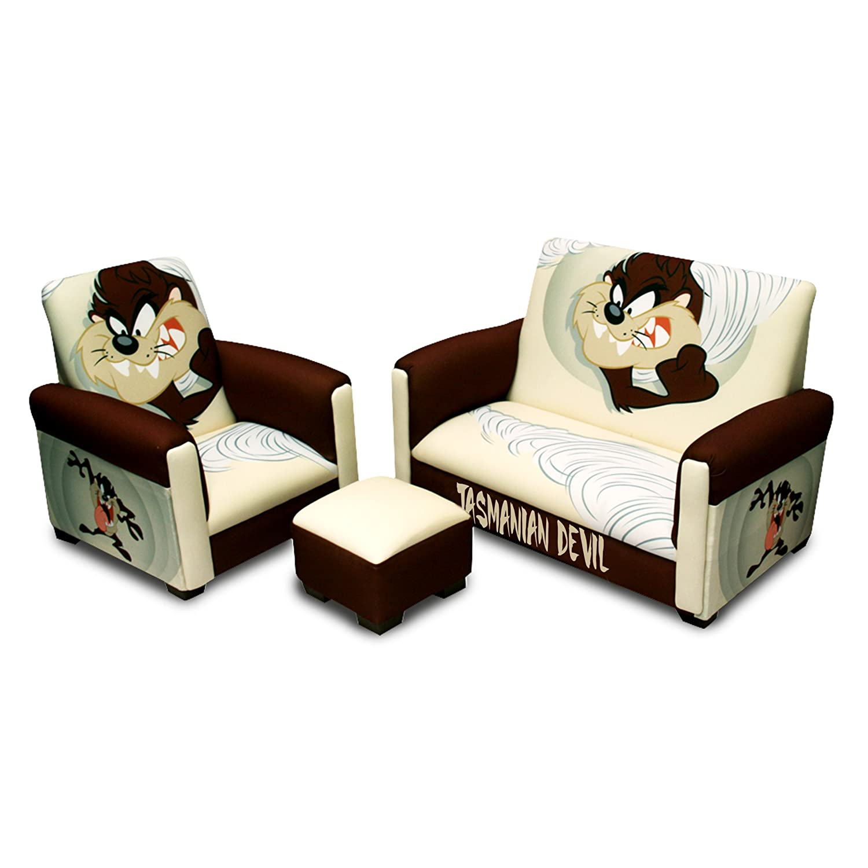 Amazoncom Warner Brothers Toddler Sofa Chair and Ottoman Set