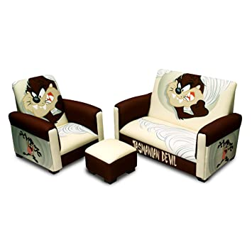 Incroyable Warner Brothers Toddler Sofa, Chair And Ottoman Set, Tasmanian Devil